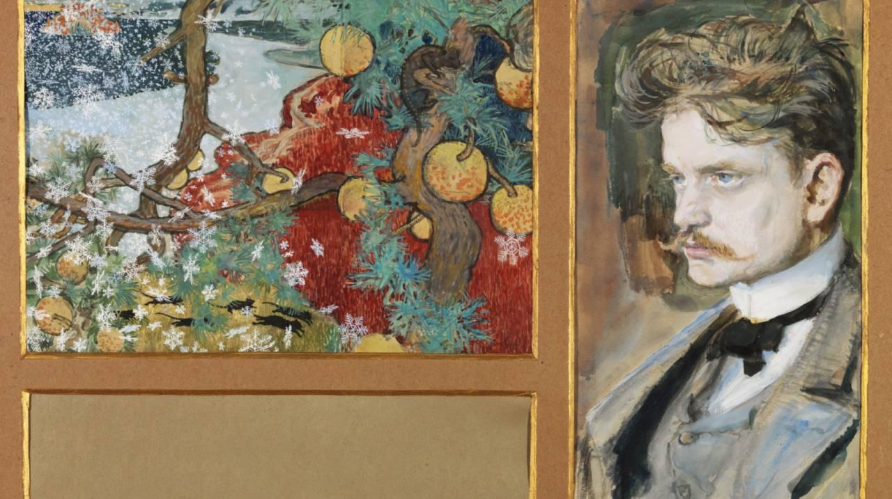 Portret door tijdgenoot Aksela Gallen-Kalela (1865-1931)